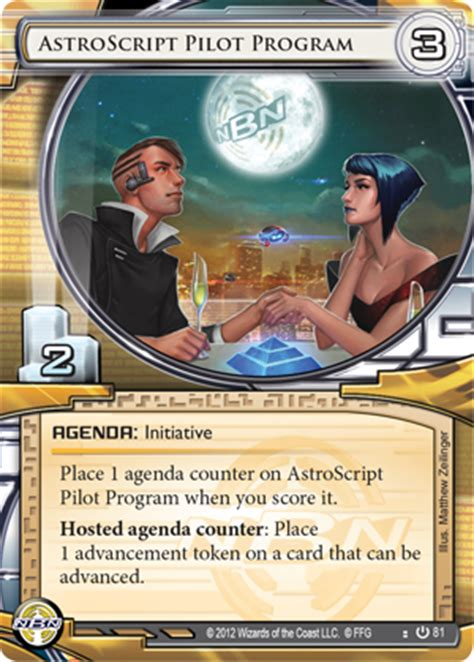 Netrunner Deck Building Agenda by Napd Security Upgrades Flight