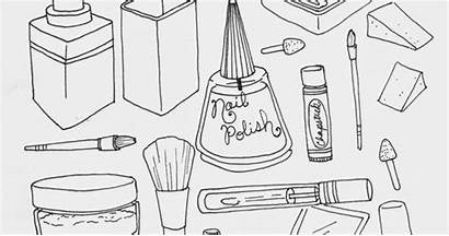 Coloring Makeup Pages Printing