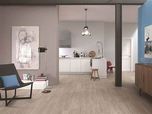 cuisine carrelage et salon parquet With salon carrelage imitation parquet