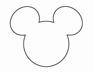 mouse ears mickey mouse and ears on pinterest With mickey mouse silhouette template