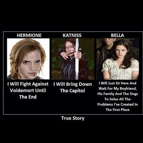 Hermione (the Smartest Witch Ever), Katniss (the Girl On