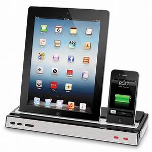 Ipad Iphone Ladestation : the iphone and ipad charging speaker dock hammacher schlemmer ~ Sanjose-hotels-ca.com Haus und Dekorationen