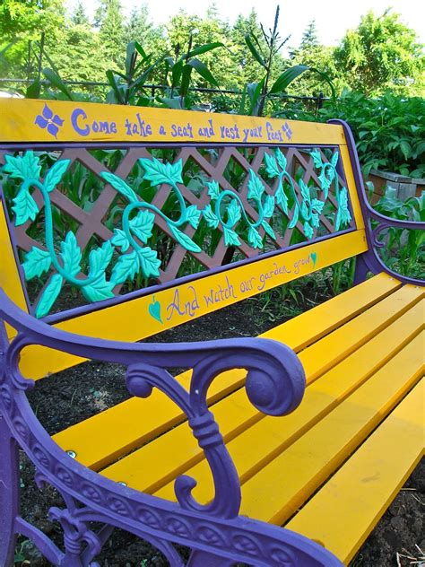 painted garden bench ideas photograph write my garden plan