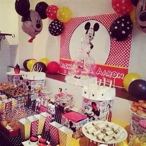 Décoration D Anniversaire : mouse party une d coration de buffet d 39 anniversaire ~ Dode.kayakingforconservation.com Idées de Décoration