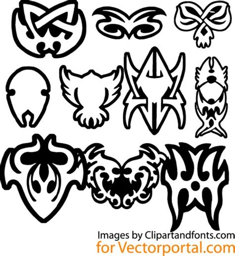 tribal tattoo design elements vector vector