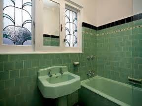 bathroom floor tile retro blue bathroom tile 1950s green
