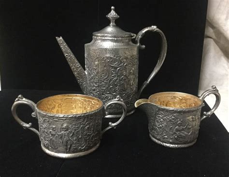 Fabulous Small Hammered Dutch Scene Antique Derby Silver