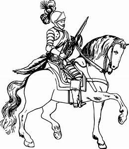 Clipart - Knight on horseback 5