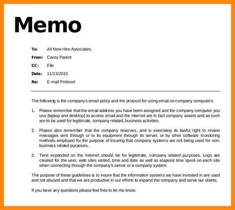 Protocol For Emailing Resumes by 5 How To Cc On A Memo Reporter Resume