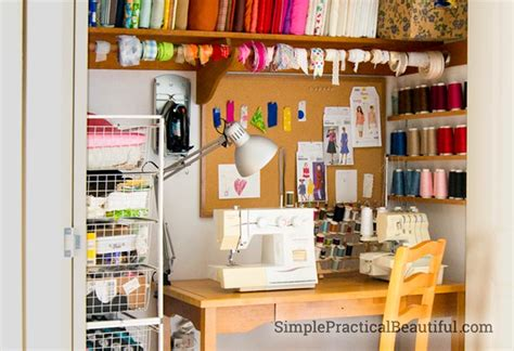 my sewing closet lighting simple practical beautiful