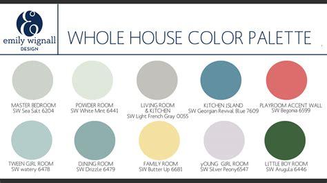 color palettes for home interior whole house color palette copy jpg