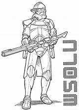 Coloring Clone Wars Trooper Drawing Printable Template Drawings Sketch Templates sketch template