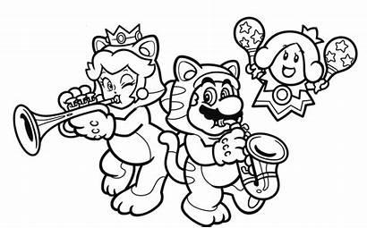 Coloring Pages Nintendo Mario 3d Super Cat