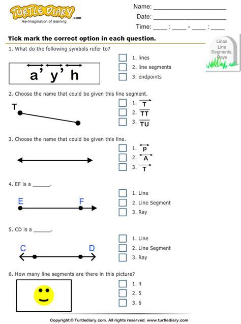 identify points lines  segments  figure