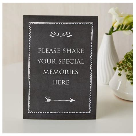 share  special memories  card sign