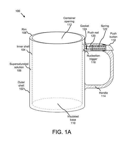Patent US20120085724   Insulated reusable self warming beverage and food container   Google Patents