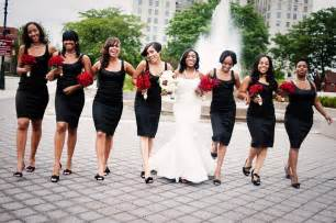 black dresses for bridesmaids black and white wedding dresses is our choice of the month january wedding bells