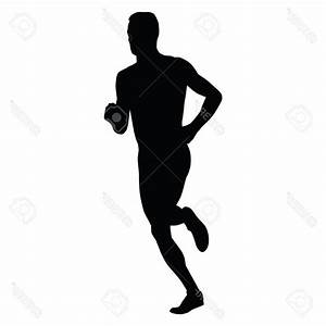Best Vector Runner Running Man Silhouette Run Sport Active ...