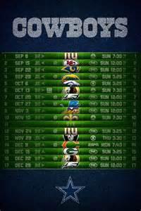 Dallas Cowboys 2013 Schedule Printable