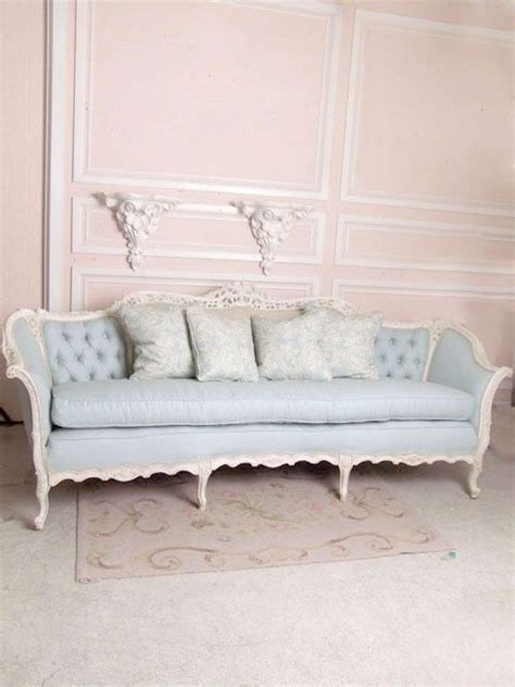 sofa shabby chic shabby chic sofa pale pink walls pastels