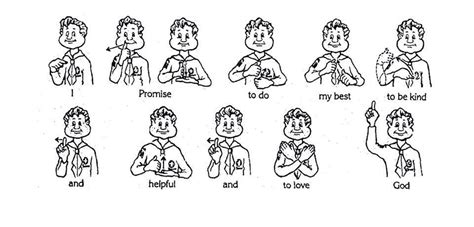beaver scout promise sign language google search
