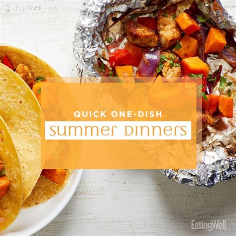 7 day dinner plan quick one dish dinners for summer