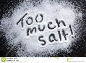 too much salt stock photo image 42966184