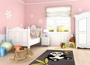Tapis Pour Chambre Enfant : tapis pour chambre de b b noir panda ~ Melissatoandfro.com Idées de Décoration