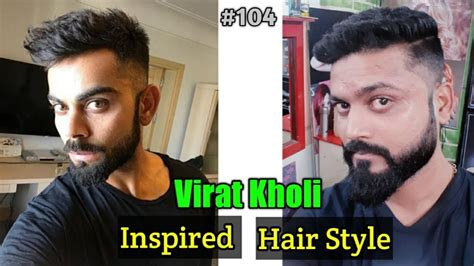 virat kohli hairstyle inspired haircut  mens