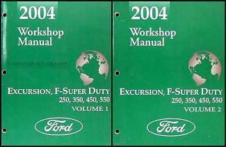 car repair manuals online pdf 2004 ford excursion free book repair manuals 2004 ford excursion f super duty 250 350 450 550 repair shop manual set