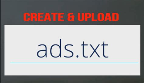 How To Create Ads.txt File Into Root Directory