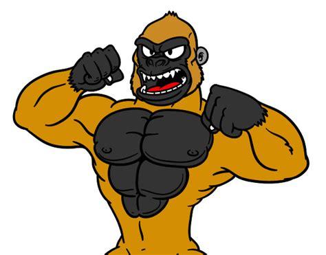 Desenho de Gorila forte pintado e colorido por Ericxpvt o