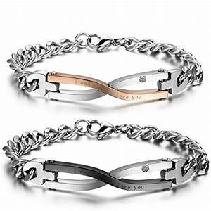 Cadeau Saint Valentin Pour Femme : jewelrywe bijoux 2 pcs bracelet homme femme amour d 39 amiti cadeau de saint valentin symbole ~ Preciouscoupons.com Idées de Décoration