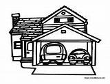 Coloring Pages Garage Cars Houses Fun Building Teaching Sheets Buildings Easter sketch template
