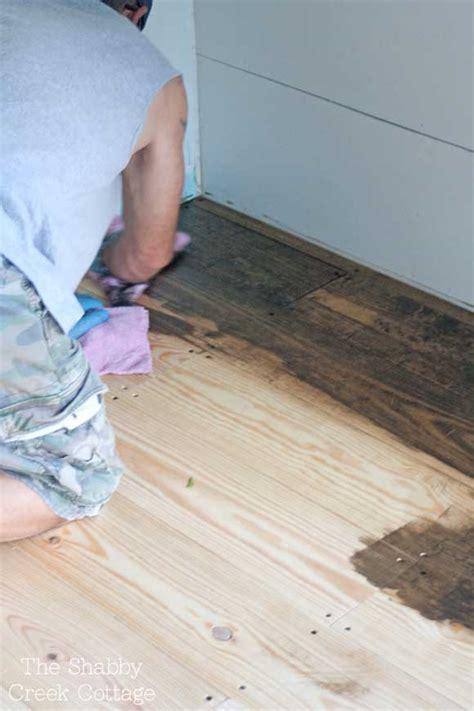 wide plank pine diy wood floors