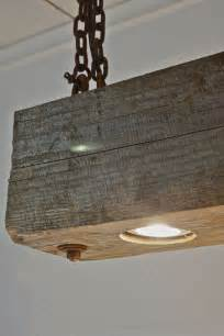 kitchen island bar table rustic modern hanging reclaimed wood beam light by rte5reclamation oh my this dyi