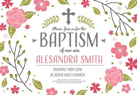 Invitation Baptism Template Vector Download Free Vectors