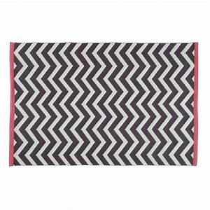 tapis gris anthracite wave 140x200 maisons du monde With tapis gris anthracite