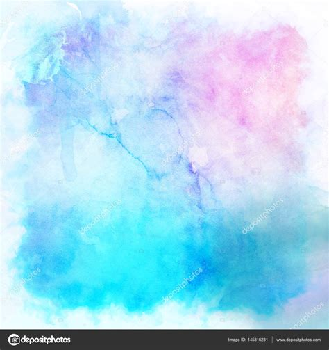Watercolor Background Watercolour Background In Pastel Colours Stock Photo