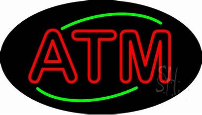 Atm Neon Sign Signs Double Stroke