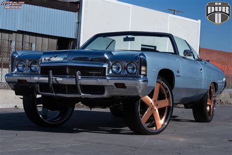 chevrolet impala dub  baller wheels brushed  rose