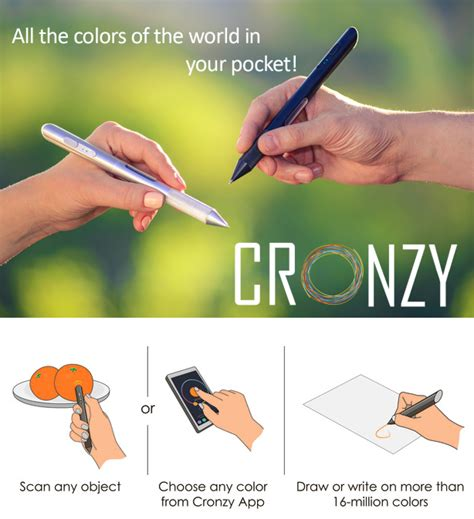 pen that scans colors cronzy pen scans any color you want then writes in that
