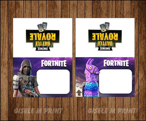 fortnite food labels printable fortnite food tent cards