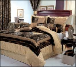 7 piece king size leopard patchwork comforter set safari bedding