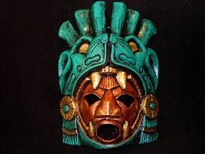 Large Aztec Warrior Mask Stone Jaguar Calendar Mayan ...