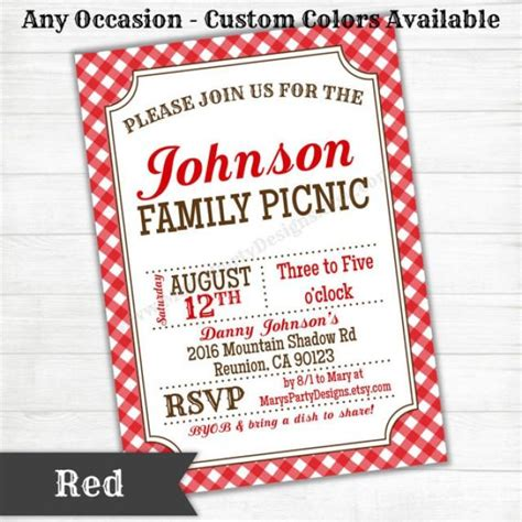 picnic bbq western invitation baby bridal wedding shower birthday welcome party rustic