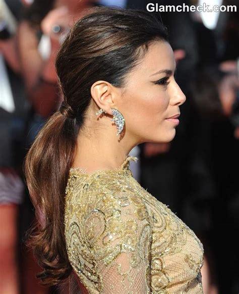 hairstyle diy eva longorias chic  ponytail