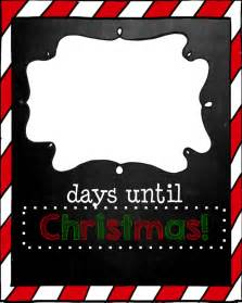 Days till Christmas Countdown Printable