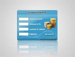Zinszahlen Berechnen : zinseszins rechner in lightblue zins und zinseszins ~ Themetempest.com Abrechnung