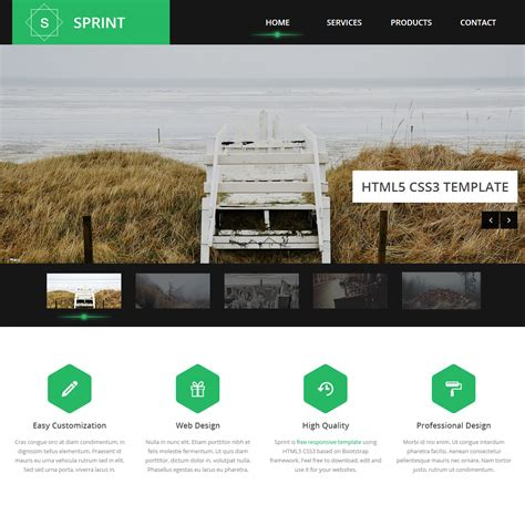 free website templates html5 30 free responsive html5 css3 site templates